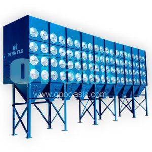 colectores de polvo tipo cartucho, grupo oasis, colectores industriales, sistemas de ventilación
