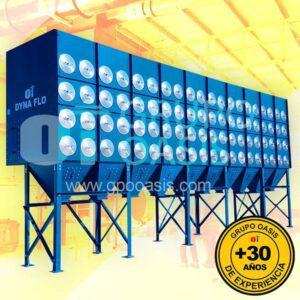 colectores de polvo tipo cartucho, grupo oasis, colectores industriales, sistemas de ventilación industrial, dyna flo
