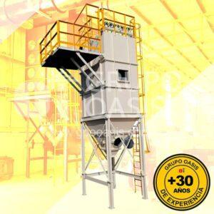 colectores de polvo tipo bolsa, grupo oasis, colectores industriales, sistemas de ventilación industrial, dyna flo