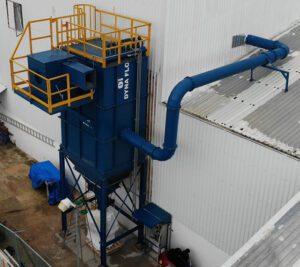 Renovar viejo colector de polvos, dyna flo, oasis méxico, sistemas de ventilación industrial