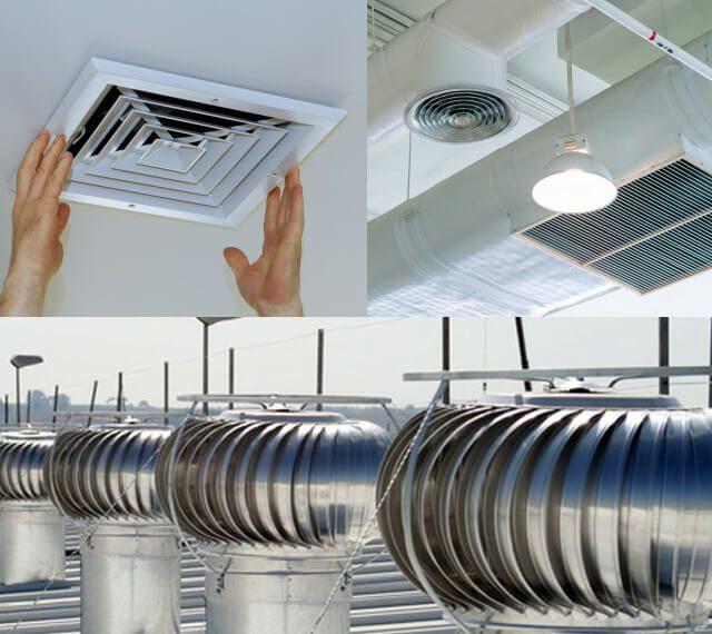 Tipos de sistemas de ventilación industrial colectores de polvo