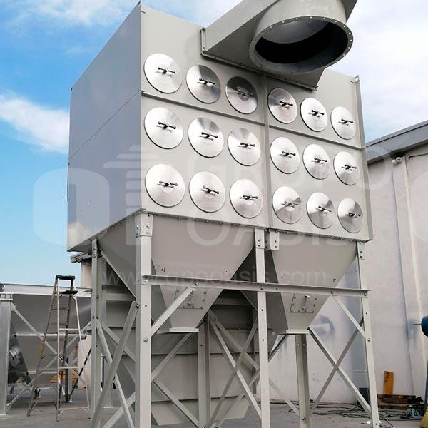 sistemas de ventilación industrial, colectores industriales, colectores monterrey, grupo oasis, ventilación industrial