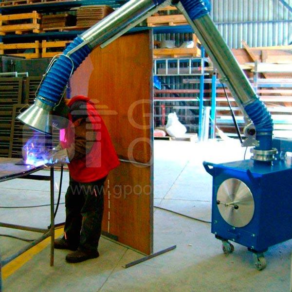 sistemas de ventilación industrial, colectores de polvo humos y neblinas, dyna flo, grupo oasis, oasis méxico, extractor de polvo