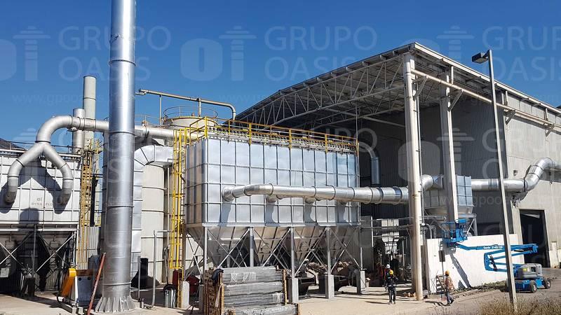 colectores de polvos industriales refacciones polvo Ventilador centrífugo