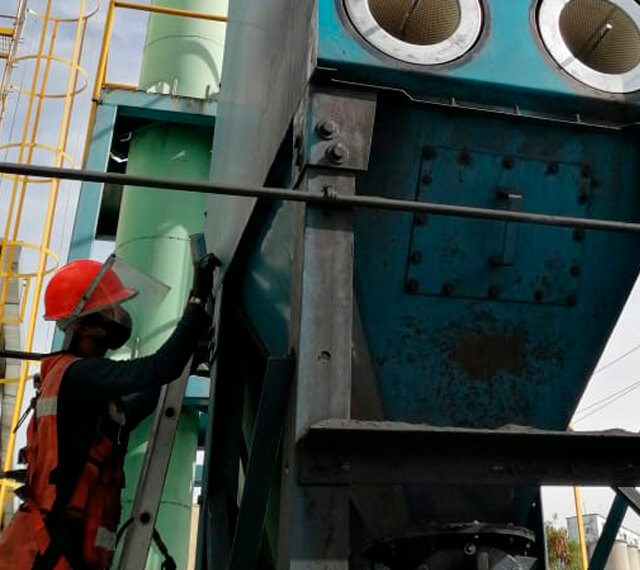 mantenimiento de colectores de polvo Renovar viejo colector de polvos