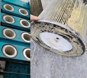 cambio de filtro, Limpieza en filtros para colector de polvos, colectores industriales monterrey