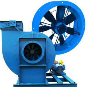 Ventiladores Axiales Centrífugos, colectores de polvo, sistemas de ventilación