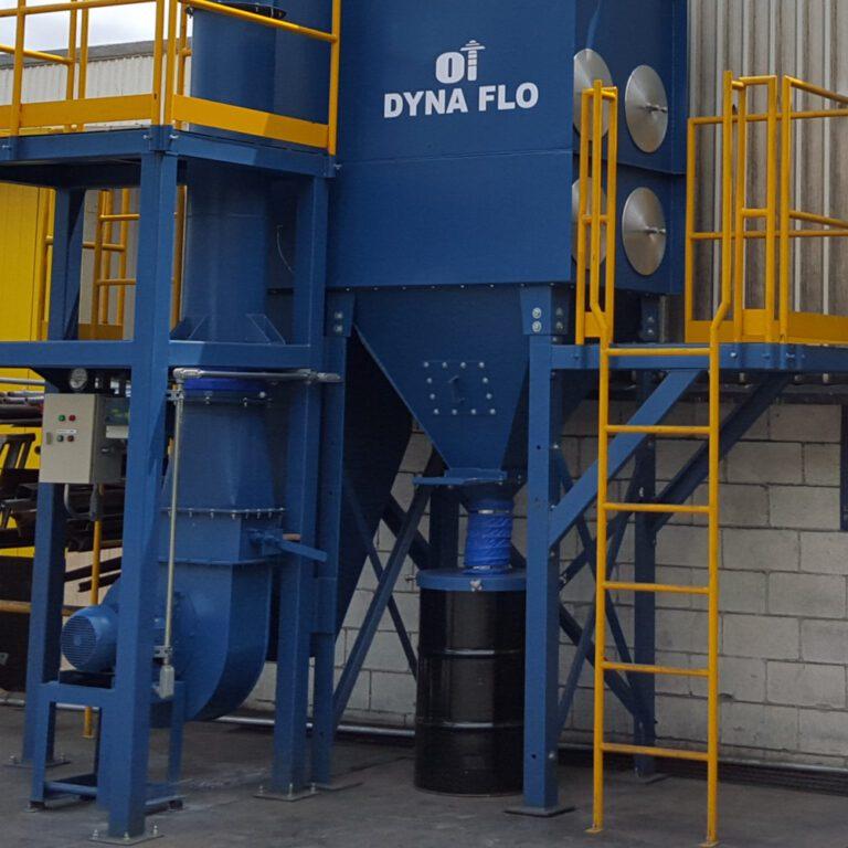 sistemas de descarga colectores de polvo grupo oasis ventilación industrial tipos de ventilación