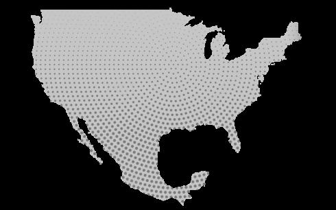 mapa de méxico y estados unidos